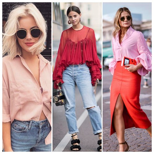 collage vermelho e rosa