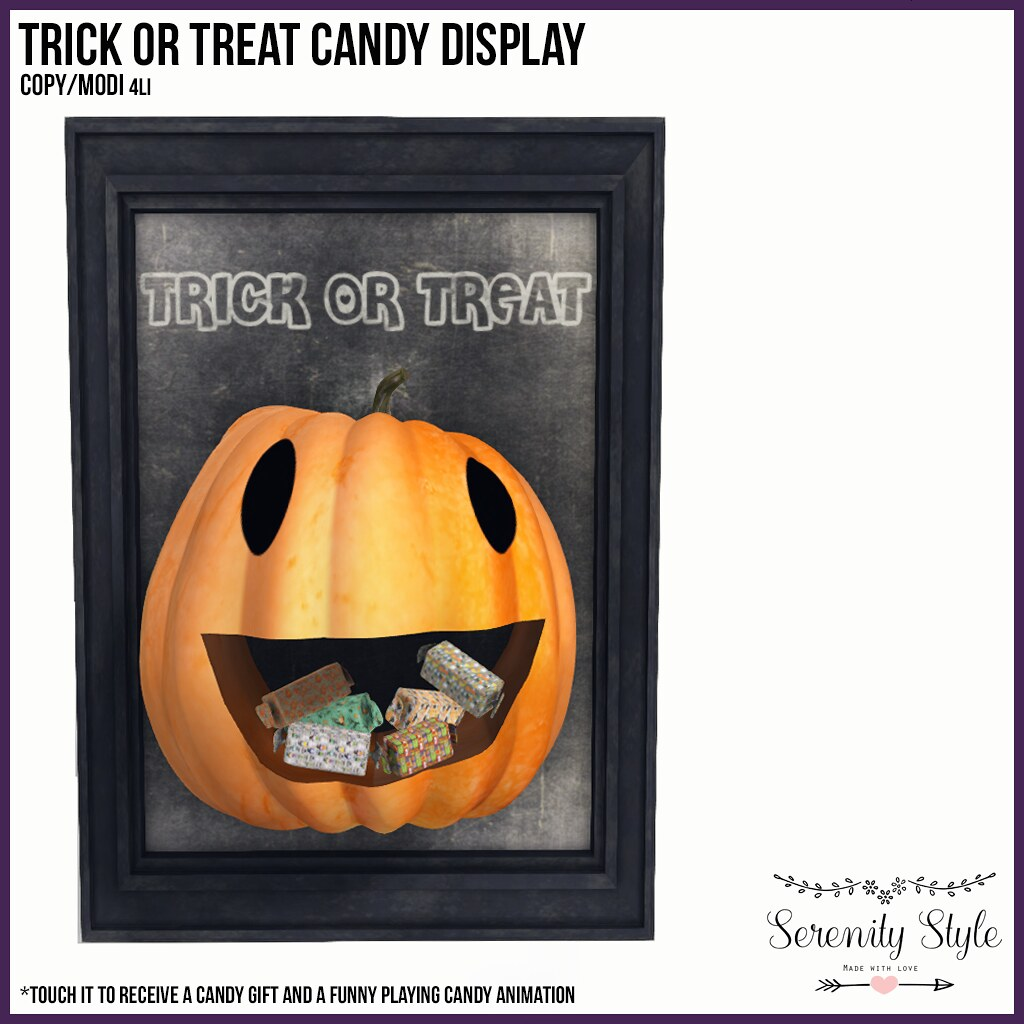 Serenity Style-Trick or Treat Candy Display GROUP GIFT