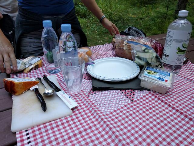 picnic on Sundance Canyon hike