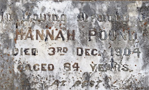 Hannah Pound Died 3 Dec 1904 aged 84 years at rest