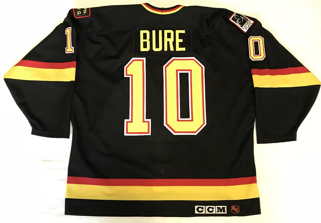 1993-94 Pavel Bure Vancouver Canucks Stanley Cup Finals Away Jersey Back