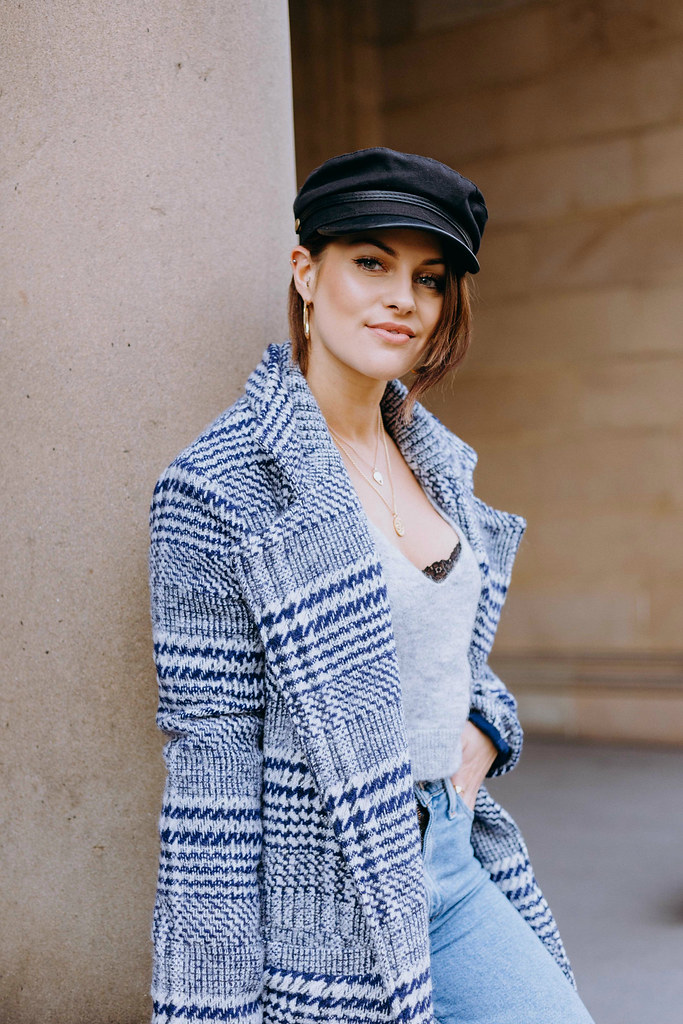 The Little Magpie Revolve Blue Checked Coat