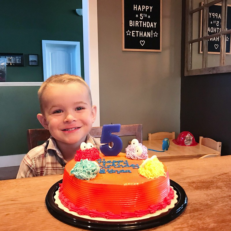 Ethan is 5!