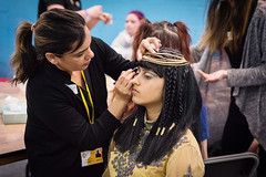 Bolton College - Beauty Showcase Participant Egyptian Style