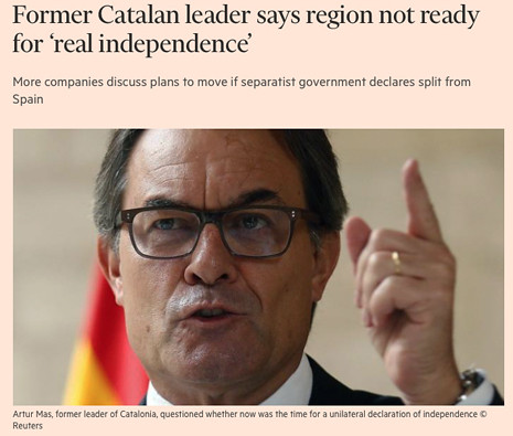 17j06 Former Catalan leader says region not ready for real independence Uti 465