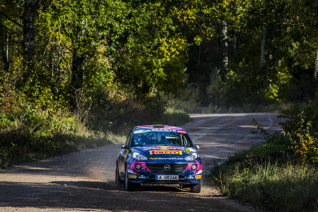 25 Molinaro Tamara, Opel Rallye Junior Team, Opel Adam R2 ERC Ladies ERC Junior U27 action during the 2017 European Rally Championship ERC Liepaja rally,  from october 6 to 8, at Liepaja, Lettonie - Photo Gregory Lenormand / DPPI