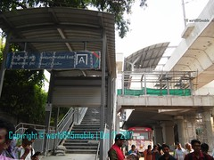 Display boards being set up at Secunderabad East Metro Station