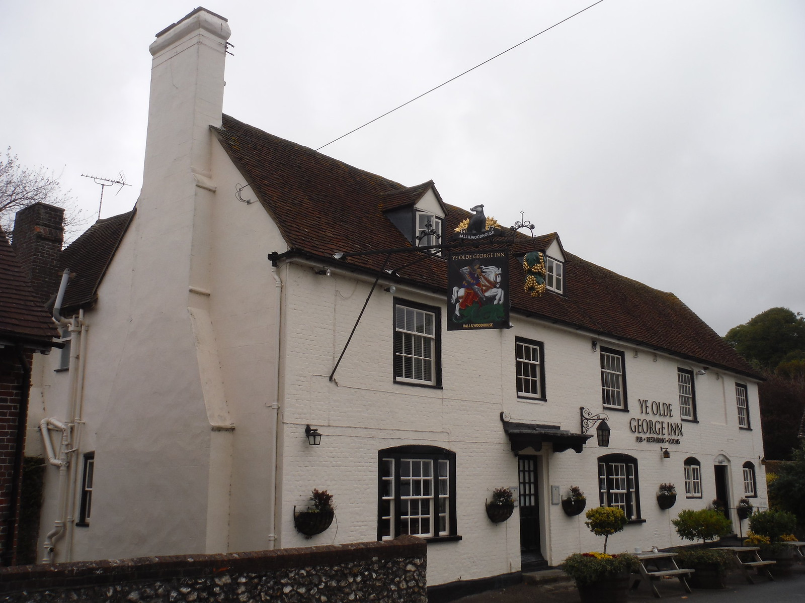 Ye Olde George Inn, East Meon SWC Walk 183 - South Downs Way Section 2: West Meon to Petersfield (East Meon Lunch Pubs Diversion)