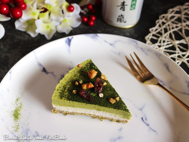 純素抹茶白巧克力派 Vegan Matcha Layered Pie (6)