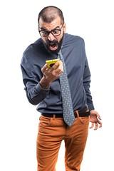 Man talking to mobile