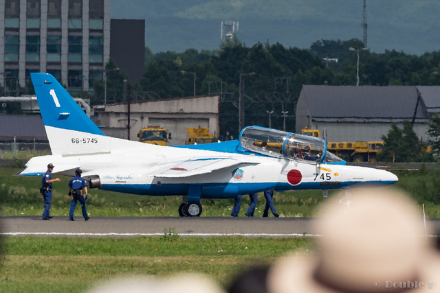 JASDF Chitose AB Airshow 2017 (130) Blue Impluse No.1 stopped by a broken brake