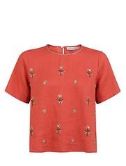 ฿2295 ESTIMATE เสื้อเบลาส์ รุ่น 1611EA18022 ไซส์ XL สีแดง