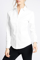 Marks & Spencer white button down shirt