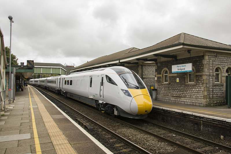 Intercity Express Train (IET) at Bridgend, south Wales