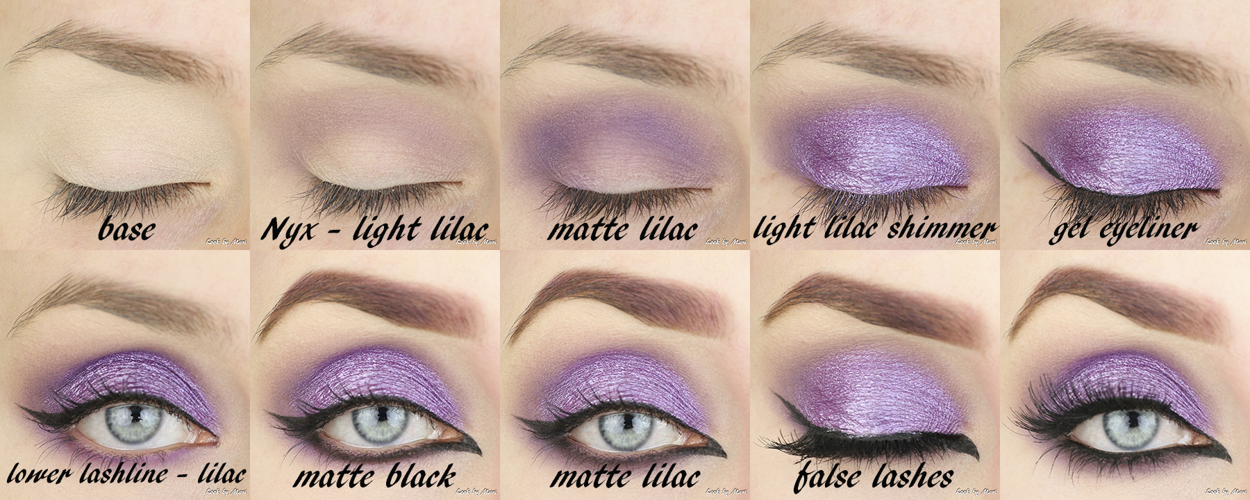 2 purple glitter eye makeup tutorial ideas inspo inspiration