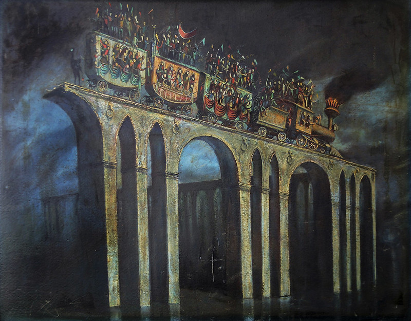 Joseph Mugnaini - Carnival, original  painting, 1952