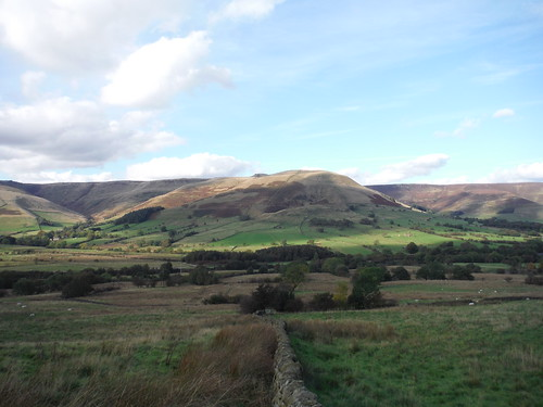 Crowden Clough and Grindslow Knoll, from near Manor House Farm