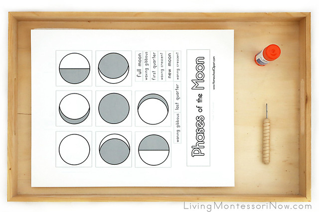 Phases of the Moon Pin-Punch-and Paste-Activity