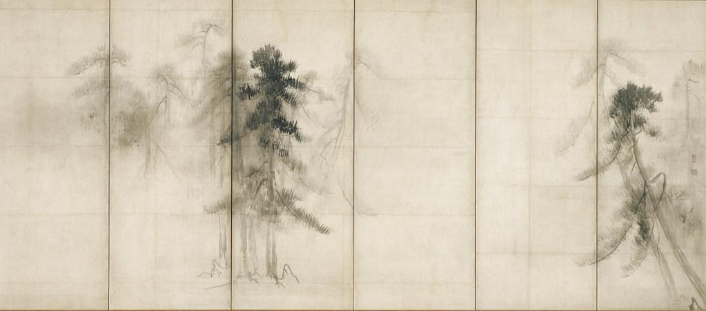 国宝《松林図屏風(右隻)》長谷川等伯筆(桃山時代・16世紀、東京国立博物館、~11月12日展示)
