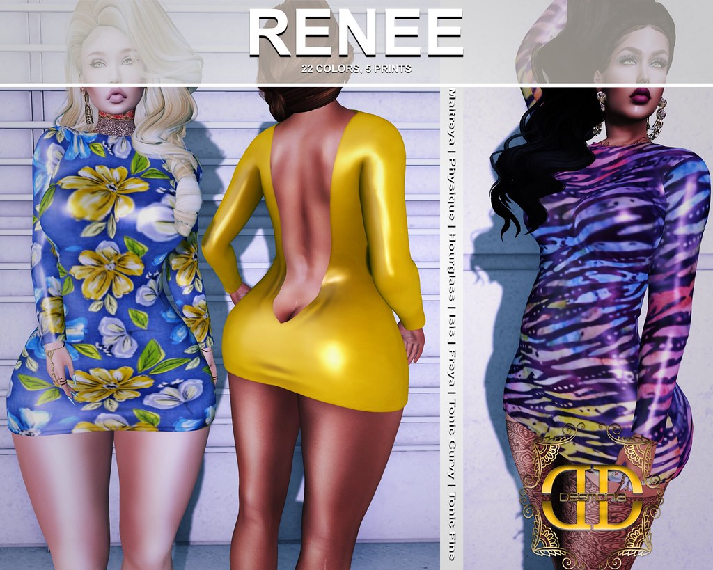 -Desmonia- Renee Draped Back Dress Fatpack now in mainstore and MP - TeleportHub.com Live!