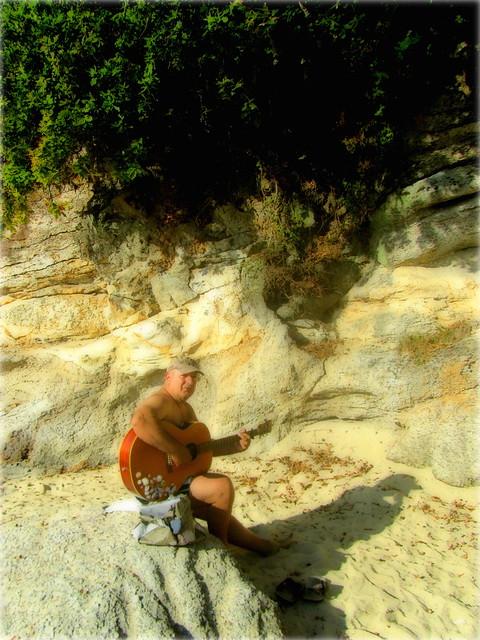 Cuando guitarreaba en la playa