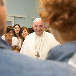 Papa Francesco visita la Fondazione