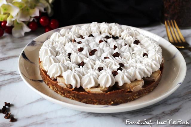 純素香蕉太妃派 Vegan Banoffee Pie (3)