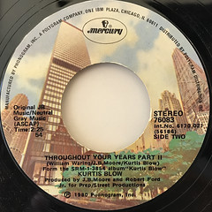 KURTIS BLOW:THROUGHOUT YOUR YEARS(LABEL SIDE-B)