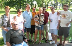 1977 AHS 30th class reunion at Brookside Park in 2007 w Thomas D Brekke Lisa Magner Larry LaMotte Cathy Grover Lankford, Pudge Rasmussen