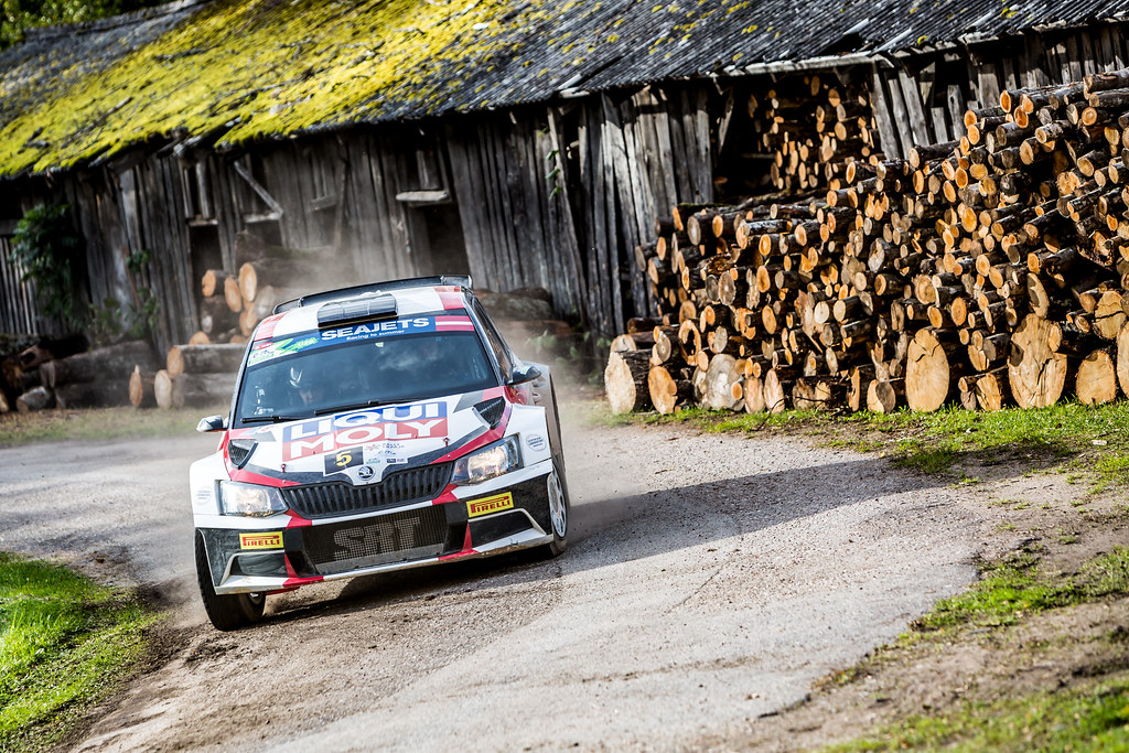 05 Gryazin Nikolay and Fedorov Yaroslav, Sports Racing Technologies, Skoda Fabia R5 ERC Junior U28 action during the 2017 European Rally Championship ERC Liepaja rally,  from october 6 to 8, at Liepaja, Lettonie - Photo Thomas Fenetre / DPPI