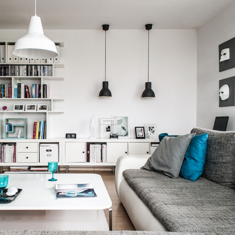 White Swedish House With Pops Of Bright Colors