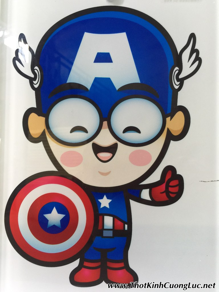 Thớt Kính Cường Lực 3D Wada28 in hình Captain America Steve Rogers đẹp quớ