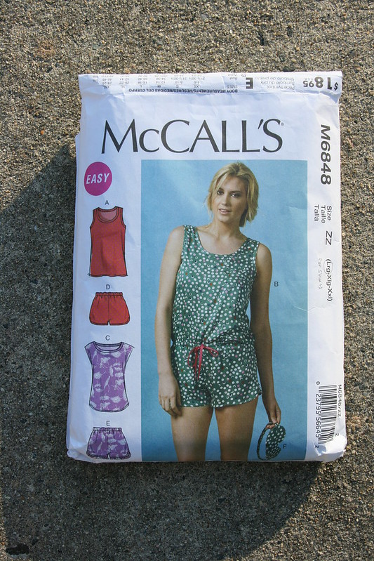 McCall's 6848 Top in Watercolor Rayon