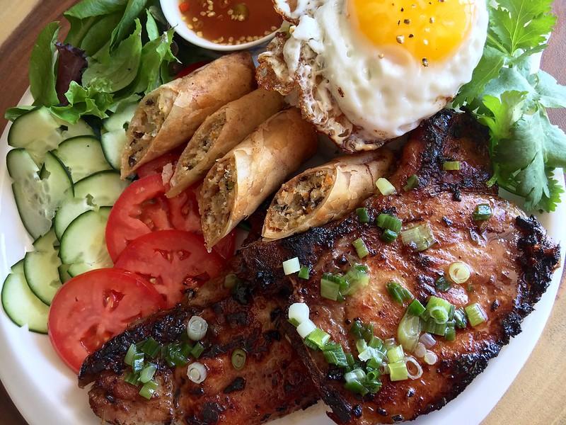 Cơm Sườn Nướng - Vietnamese Grilled Pork Chops