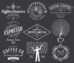 Coffee badges white