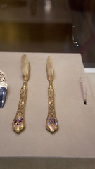 Golden tooth brushes at Egypt's Royal Jewelry Museum