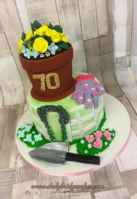 Gardening Theme 70th Birthday Cake by Stalybridge Cakes