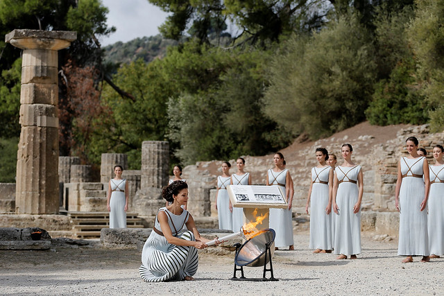 OLYMPICS-2018/FLAME-REHEARSAL - GREECE