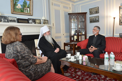 OCMC News - Metropolitan Tikhon welcomes OCMC representatives to OCA Chancery