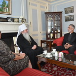 Metropolitan Tikhon welcomes OCMC representatives to OCA Chancery