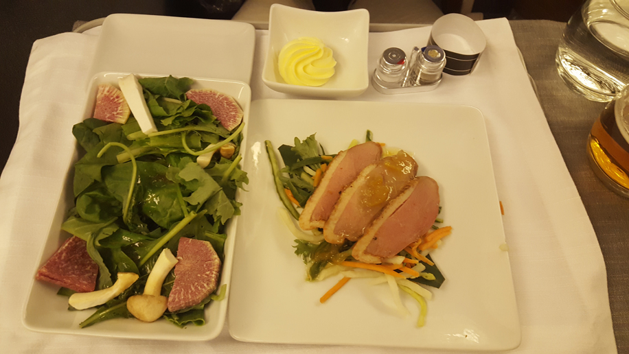 American Airlines B777-300ER review (meals)