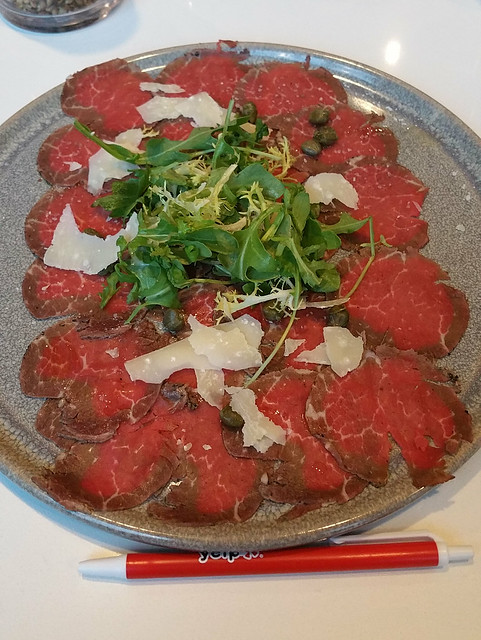 2017-Sept-21 - H2 Rotisserie and Grill - beef carpaccio