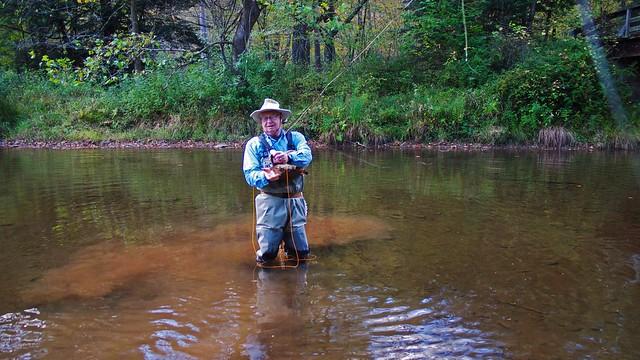 Moosehead caught big rainbow on Cross Fork