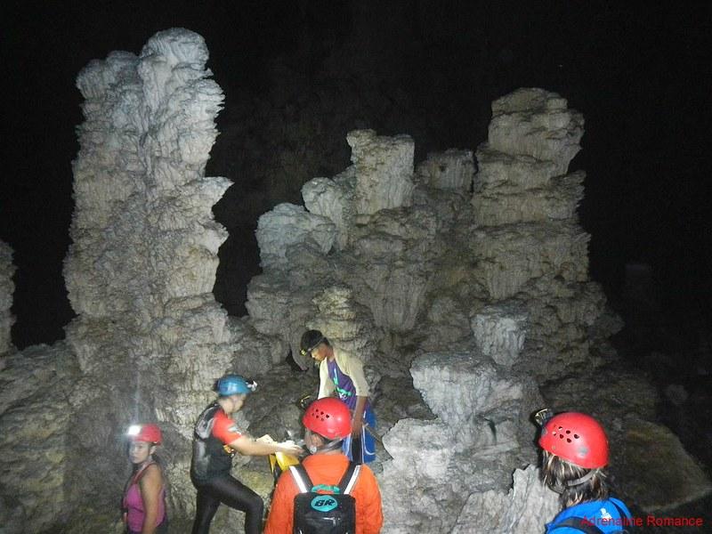 Crystaline stalagmites