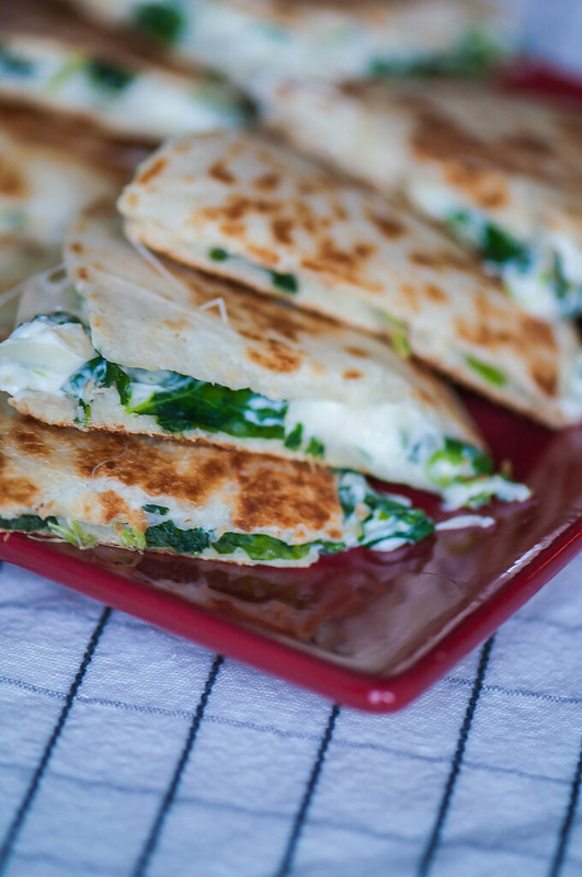 Spinach Artichoke Dip Quesadillas