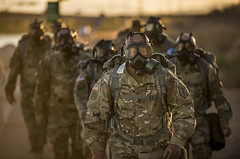 Gas Mask Ruck March