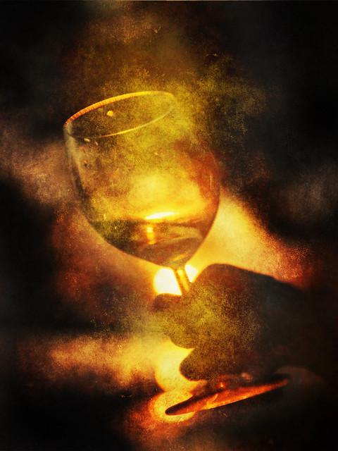 Golden wine
