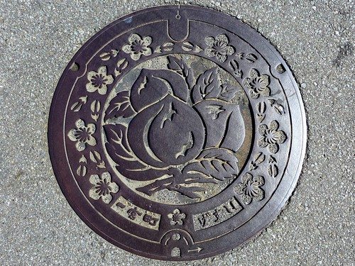 Ichinomiya Yamanashi, manhole cover (山梨県一宮町のマンホール)