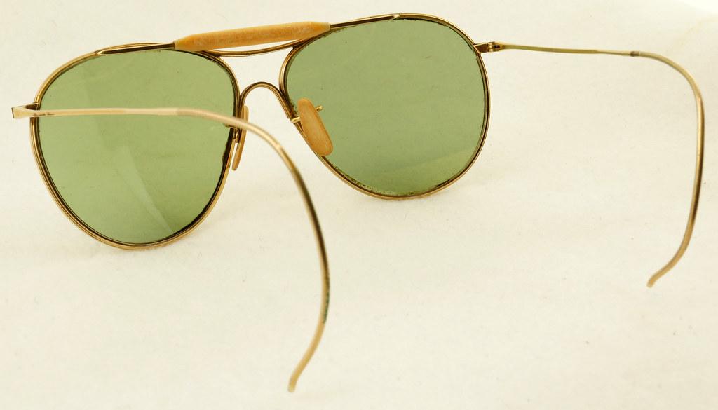 6a973c9c45 ... RD19079 Vintage 1940 s American Optical 12k GF Ful Vue AN 6531 Aviator  Sunglasses Gold   Bakelite