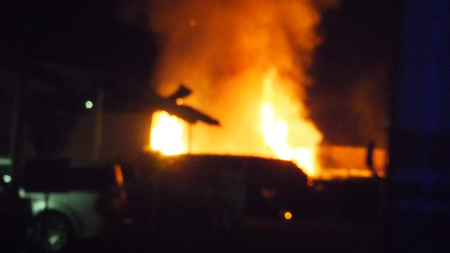 QA170003 Fire next to Pepes Krebs Automotive